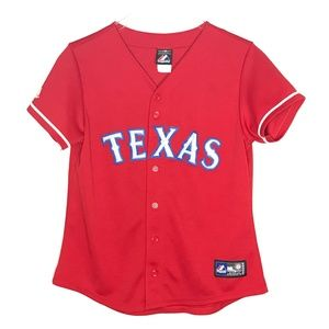 Majestic Texas Rangers Red Youth Jersey A130338
